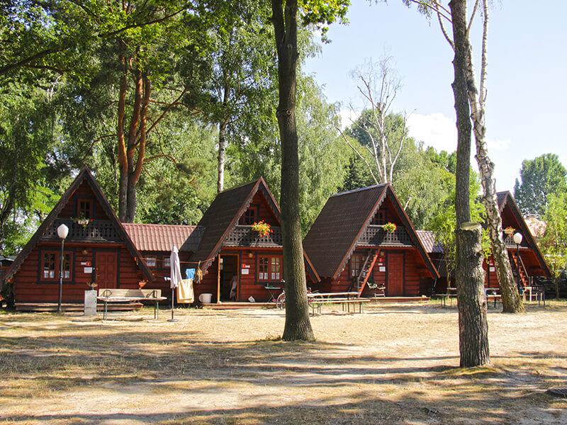 Rybaczówka Turawa - domki drewniane